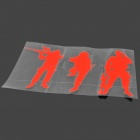 FIL Army Soldiers Style PVC Decorative Car Sticker - Red