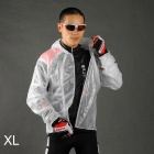 ACACIA Ultra-thin Cycling Polyester + TPU Raincoat w/ Hood - Translucent White (Size XL)