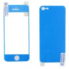 Protective Front + Back Skin Sticker Protector for Iphone 5 - Blue