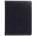 Cool Skull Pattern Rotatable Protective PU Leather Case Stand for Ipad 2 / 3 / 4 - Black