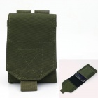 Outdoor Waterproof Nylon Fabric Mobile Phone Bag - Army Green