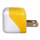 AC Power Charger Adapter for Iphone Ipad Ipod HTC Samsung - White + Yellow (US Plug / 100~240V)
