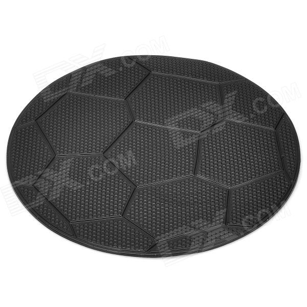 ZQ-12 Pattern Futebol Silicone Anti-Slip Mat / Pad para MP3 / Celular + More - Preto