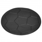 ZQ-12 Football Pattern Silicone Anti-Slip Mat / Pad for MP3 / Cellphone + More - Black