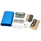 A82 Aluminum Alloy + FR4 Portable 3 x 18650 Battery Dual-USB Power Case Kit w/ 4-LED - Blue + Green