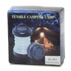Outdoor Portable 5-LED Tensile Tent Lamp Camping Lantern - Black + White (3 x AAA)