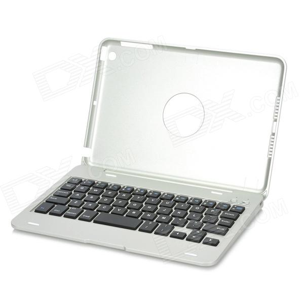 KM3 Handy 59-key Bluetooth V3.0 Keyboard w/ Protective Case for Ipad MINI - Silver laptop keyboard for acer silver without frame bulgaria bu v 121646ck2 bg aezqs100110
