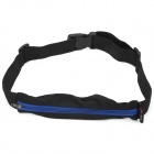 Multifunction Sport Cycling / Running Polyester Storage Waist Bag - Black + Blue
