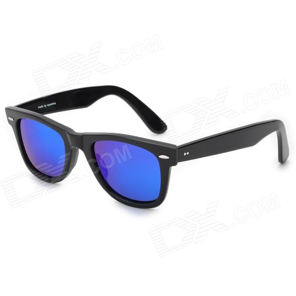 Oreka 2140 Outdoor Sports UV400 Protection Blue Revo Lens Polarized Sunglasses - Black oreka children s cool cellulose acetate frame blue revo lens uv400 sunglasses brown blue