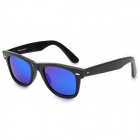 Oreka 2140 Outdoor Sports UV400 Protection Blue Revo Lens Polarized Sunglasses - Black