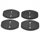 Protective ABS Car Door Lock Covers for Volkswagen / Audi / Porsche + More - Black (4 PCS)