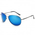 A103 Fashion Outdoor Anti UV400 Men's Polarized Sunglasses - Gun Grey + Blue
