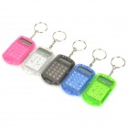 Handy Mini Silent 8-digit Calculator - Black + White + Blue + Deep Pink + Green (5 PCS) (5 x AG10)