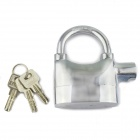 FK 8809 Zinc Alloy Security Electronic Alarm Lock w/ Keys - Silver (6 x LR44)