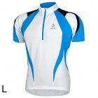 ARSUXEO AR13D3 Outdoor Sport Quick-drying Cycling Bike Polyester Jersey for Men - Blue + White (L)