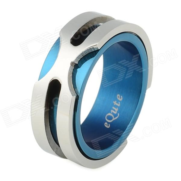 equte women s stainless steel forever love pattern ring blue silver u s size 5 eQute RSSM35C5S8 Fashion Titanium Steel Ring for Men - Blue (US Size 8)