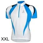 ARSUXEO AR13D3 Outdoor Sport Quick-drying Cycling Bike Polyester Jersey for Men - Blue + White (XXL)
