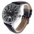EYKI EFL8560G Double-Sided Hollow Five-Hand Stopwatch Automatic Men's Wrist Watch - Black + Silver