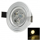 HUGEWIN HSD631 3W 3500K 200lm Warm White Light Ceiling Lamp - Silver (85~265V)