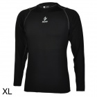 ARSUXEO Oudoor Sports Quick-drying Tights Shirt - Black (Size-XL)