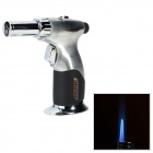 JOBON ZB-529 Windproof Adjustable Flame Butane Jet Torch Lighter - Silver + Black (Max. 1300'C)