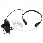 3.5mm Neckband Anti-noise Throat Sense Air Conducting PTT Headphone w/ Microphone - Black