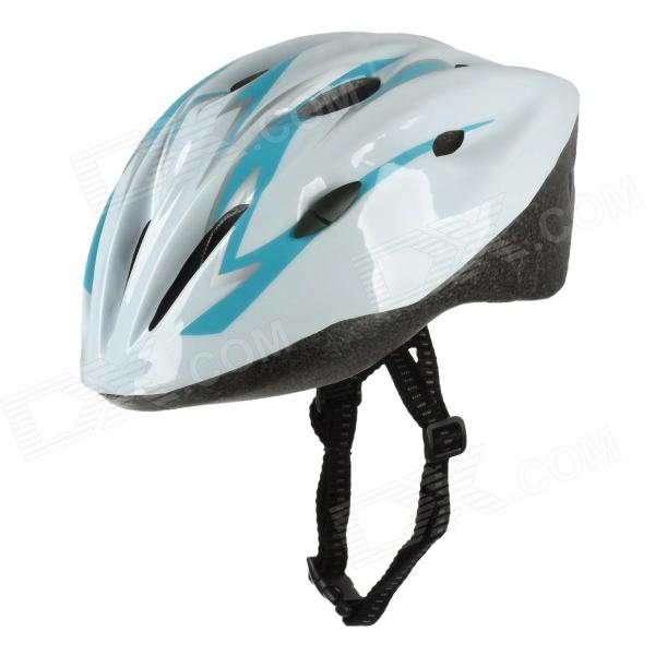 Cycling Bicycle Bike Helmet - Blue + White (Size-M)