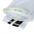 Outdoor Cycling Elastic Oversleeves - White + Black (Pair)