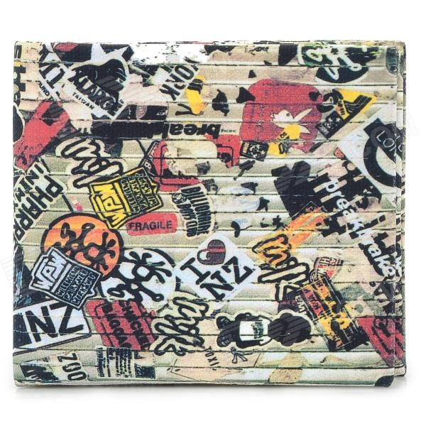 Creative Street Graffiti Design Wallet - Multicolor