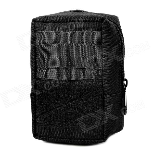 Adder Outdoor Multifunction 1000D Nylon Waist Bag - Black