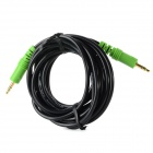 Pinguocb PGJD302 3.5mm Male to Male Audio Connection Cable - Black + Green (300 CM)