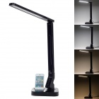 Multifunctional 11W 530lm 7000K 27-LED Table Lamp w/ USB Port / 30-Pin Charging Connector - Black