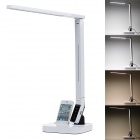 Multifunctional 11W 530lm 7000K 27-LED Table Lamp w/ USB Port / 30-Pin Charging Connector - White