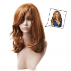 lc071-10b/30 Fashion Long Curly Wig in Falling Waves & Centre Parting - Yellowish-Brown