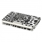 1011 Stylish Leopard Pattern Zinc Alloy Card Case - Black + White