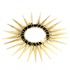 063001 Punk Style Plastic Hair Tie w/ Sharp Spines - Black + Golden