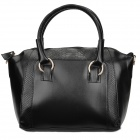 ZEA-Y104 Retro Style Snake Skin PU Leather Hand Shoulder Bag for Women - Black