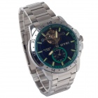 EYKI EFL8562AG Stainless Steel Self-Winding Mechanical Wrist Watch - Dark Green + Silver + Black