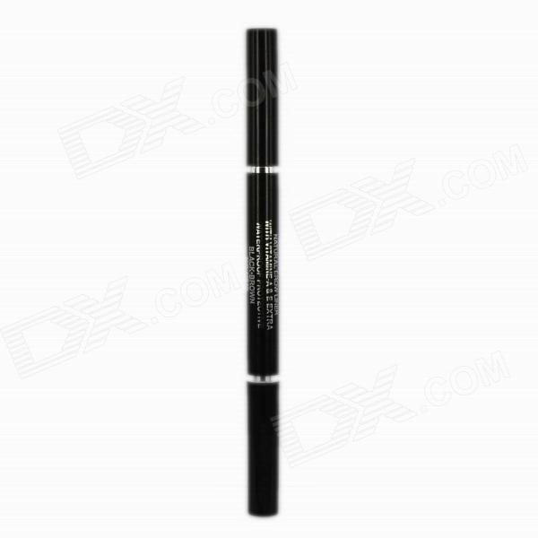 Makeup Cosmetic Automatic Both Ends Eyeliner Pencil - Black