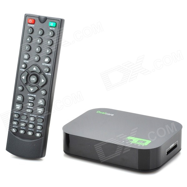 Jesurun A20 Android 4.2.2 Dual Core Google TV Media Player w/ 1GB RAM / 4GB ROM / HDMI / AV - Black