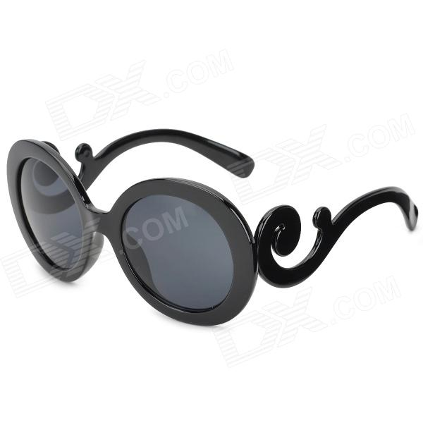 5001 Fashion UV400 Protection Lady's Round Sunglasses - Black растение экочеловеки eco совы 5001 3шт