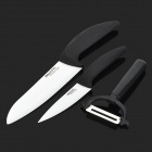 BECONN B3046P 3-in-1 Knives + Peeler Set - White + Black