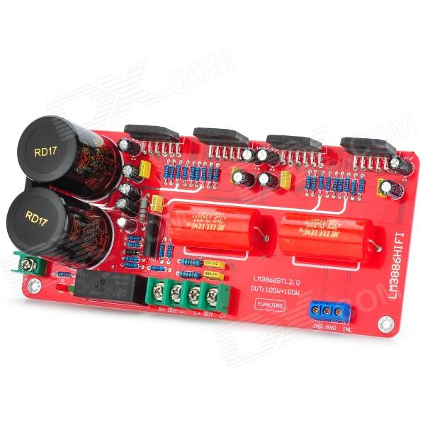 LM3886 BTL 200w 2.0 Track Power Amplifier Board - Rojo + Negro