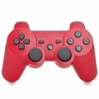 Wireless Bluetooth V4.0  Double Shock Controller for PS3/PS3 Slim - Red