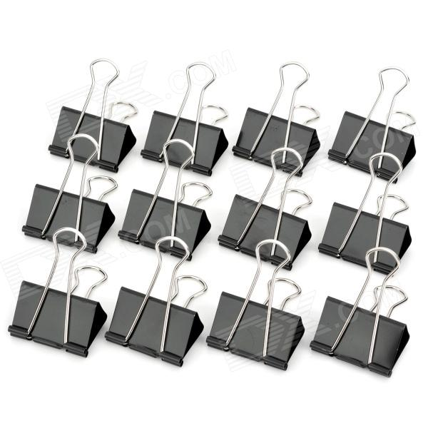 M&G ABS91606 51mm Long Handle Large Binder Clips Set - Black (12 PCS) colorful coated paper clips 80 jumbo 250 small