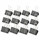 M&G ABS91606 51mm Long Handle Large Binder Clips Set - Black (12 PCS)
