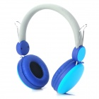 Sound Intone Wired Headphones w/ Microphone for Iphone / Ipad - Cyan + Blue (145cm)