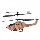 UDi U809A 3.5-CH Launching Bullet Iphone Remote Control R/C Helicopter w/ Gyro / LED - Brown + Black