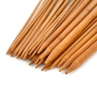 Carbonized Bamboo 18-Size Single Headed Knitting Long Needles - Tan (35cm)