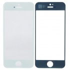 Replacement Electroplating Front Faceplate Panel Glass Screen for iPhone 5 - White